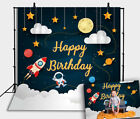 Space Travel Spaceman Backdrop Baby Shower Kid Birthday Party Decor Background