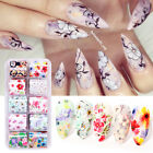 10Rolls/Set Nail Foils Rose Flowers Butterfly Nail Art Transfer Stickers Decors