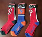 NWT Philadelphia Phillies NY Mets Nationals 47 Brand Socks Large Unisex