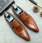 Mens Real Leather Business Formal Shoes Wedding Bridegroom Pointy Toe Buckle New