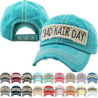 Bad Hair Day Washed Vintage Distressed Baseball Cap