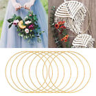 Metal Iron Gold DIY Wreath Wedding Floral Hoop Garland Dreamcatcher Home Decor