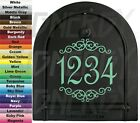 """Personalized House Mailbox Choice Number Or Initial Vinyl Sticker Decal 6"""" Cute!"""