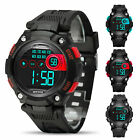 Casual Waterproof Kids Electronic Digital LED Watches Children Boys Girls Sports image