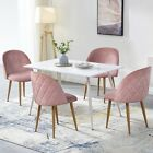 Set of 2 Pink Velvet Dining Chairs for Living Room Upholstered Chair Mid Century