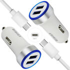 Wall Car Charger Data USB Cable Cord For LG V35 ThinQ Escape Plus Q7+ ZTE Z981