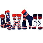 TeeHee Socks Mens Novelty Fashion Americana US USA Patriot Pride Cotton 4 Pair