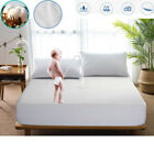 Premium 100% Waterproof Protector Breathable & Noiseless Mattress Bed Pad Cover image