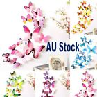 12pcs Decal Wall Stickers Home Decorations 3d Butterfly Rainbow Sticker 5 Colors