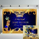 Royal Prince Baby Shower Backdrop Baby Crown Photography Backdrop Party Supplies