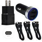 For Samsung Galaxy C9 C7 Pro ZTE Z981 Car Adapter Wall Charger USB-C Cable Cord