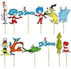 DR SEUSS cupcake toppers Birthday Party Decoration CAT IN HAT BRACELET BALLOON
