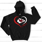 Nfl Kansas City Chiefs Hoodie Unisex Womens Gildan Black Grey Handmade New $38.0 USD on eBay