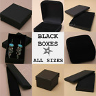 Black Jewellery Gift Box Ring Necklace Bracelet Earings Watch Plain Present New