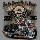 Patriotic American Motorcycle T-Shirt Biker We The People Small to 6XL and Tall