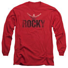 Rocky Long Sleeve T-Shirt Distressed Victory Red Tee $29.89 USD on eBay