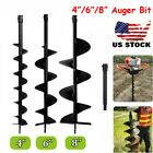 4 6 8 Earth Fence Garden Post Hole Digger Auger Drill Bit Planting Cast Steel BP