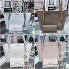 NWT MICHAEL KORS CIARA LARGE LEATHER TOP ZIP TOTE + TRIFOLD WALLET MULTI COLOR image