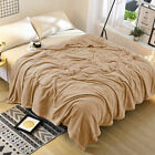 Large Fleece Throw Blanket Sofa Be Thick Fluffy Warm Faux Fur Mink Double/King