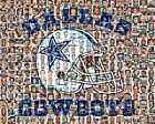 Dallas Cowboys Mosaic Print Art Designed Using The Greatest Players of All Time $35.0 USD on eBay