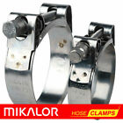 MIKALOR Quality Stainless Steel Heavy Duty Hose / Exhaust Pipe Clamp Clamps