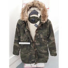 ABERCROMBIE & FITCH WOMENS SHERPA LINED TWILL PARKA JACKET COAT CAMO SIZE MEDIUM