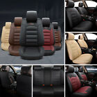 US 5-Seat Car SUV Seat Covers Cushion Front+Rear Full Set PU Leather Universal