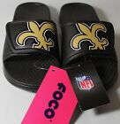 New Orleans SAINTS KIDS SLIDES, BLACK/GOLD, SIZE YOUTH SMALL $14.93 USD on eBay