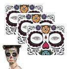 Halloween Dress up Facial Makeup Temporary Tattoo Stickers Day Of The Dead $9.76 USD on eBay