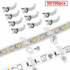 100Pcs/Set Mounting Bracket Clip Fastener For Fixing 5050 RGB LED Strip Light US
