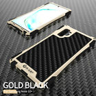 Metal Silicone Carbon Fibre Heavy Duty Case For Samsung Note 10 Plus S10 S9 S8