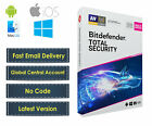 New Bitdefender Total Security 2020 | 5 Devices - 1 Year to 5 Year | No Key / CD
