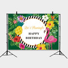 Summer Flamingo Backdrops Aloha Kids Birthday Party Cake Table Decor Background