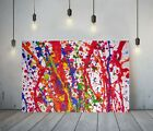 JACKSON+POLLOCK+15-++FRAMED+CANVAS+ARTIST+WALL+ART+PAPER+PICTURE+PRINT-+PINK
