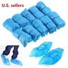 300Pcs Plastic Waterproof Disposable Shoe Covers Blue Shoe Covers Overshoes Boot