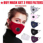Kyпить Reusable Cotton Mask Mouth Face Cover Respirator + 2pc PM2.5 Mask Filter Pad на еВаy.соm