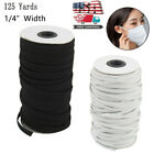 125 Yards Length  DIY Braided Elastic Band Cord Knit Band Sewing 1/8 1/4 inch KY