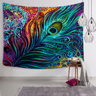 Kyпить WaterColorful Feather Wall Hanging Tapestry Boho Mandala Tapestry US Local Ship на еВаy.соm