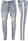 Men's Ripped Jeans Stretch Track Pants Biker Slim Fit Denim Pants Skinny Jeans