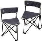 Tripod Chairs Folding,Backpacking Lightweight Portable Tripod Seat Stool Back 2P