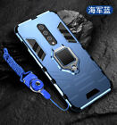 For OnePlus 8 Hybrid Rugged Shockproof Magnetic Ring Holder Stand Case Cover