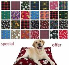 LARGE& X LARGE PET DOG BED MAT ZIPPED REMOVABLE WASHABLE CUSHION COVER+INNER PAD