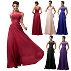 GK Sleeveless V-Back Chiffon Ball Gown Evening Prom Party Dress 8-Size US 2~16
