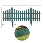 4pc Grey Wooden Effect Picket Garden Fencing Edge Set Lawn Border Plastic Edging