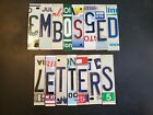 Raised / Embossed License Plate Letters And Numbers $.99 To $3.00