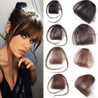 Внешний вид - Thin Neat Air Bangs Remy Human Hair Extensions Clip in on Fringe Front Hairpiece