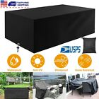 Garden Patio Furniture Cover Waterproof Outdoor Rattan Table Cover Bench Shelter