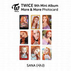 TWICE 9th Mini Album More And More Official Photocard Sana K-POP KPOP