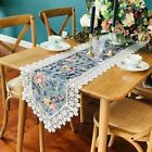 Floral Embroidery Lace Table Runners Cabinet Piano Dinning Table Cover Retro New
