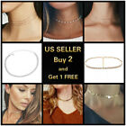 Choker Collar Necklace Gold Silver Star Shining Multilayer Beads Women Jewelry *
